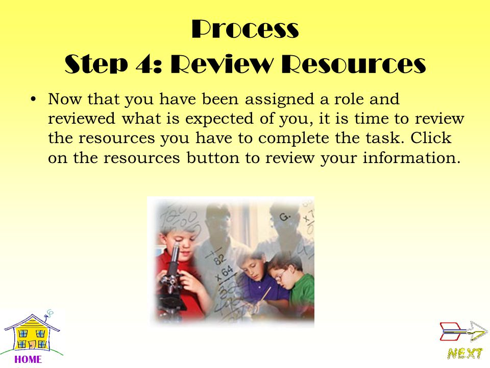 Process Step 4: Review Resources