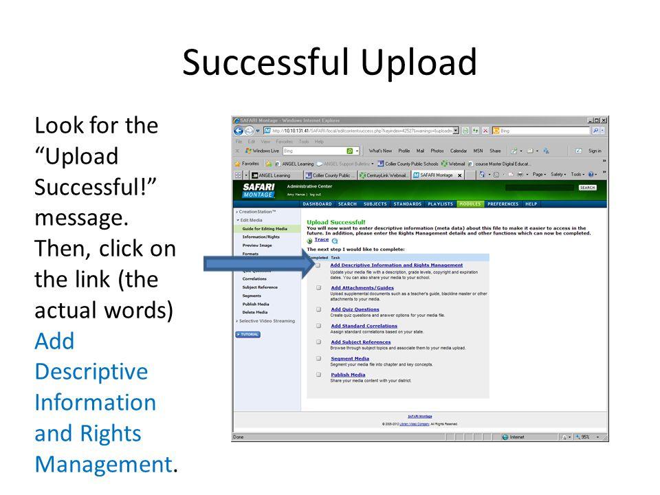 Successful Upload