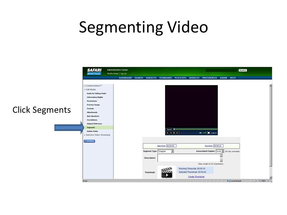 Segmenting Video Click Segments