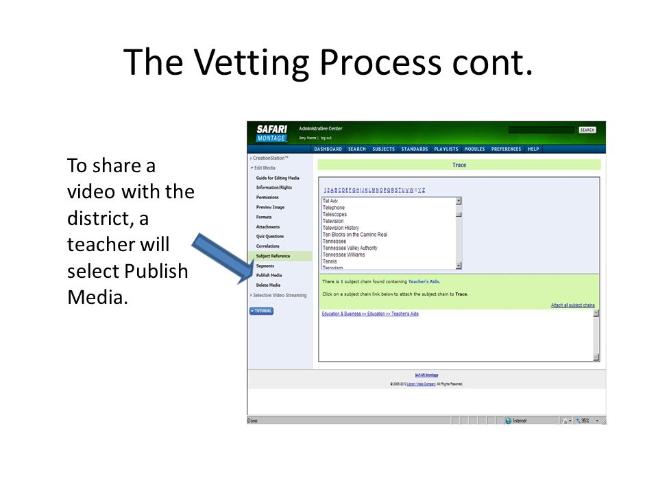 The Vetting Process cont.