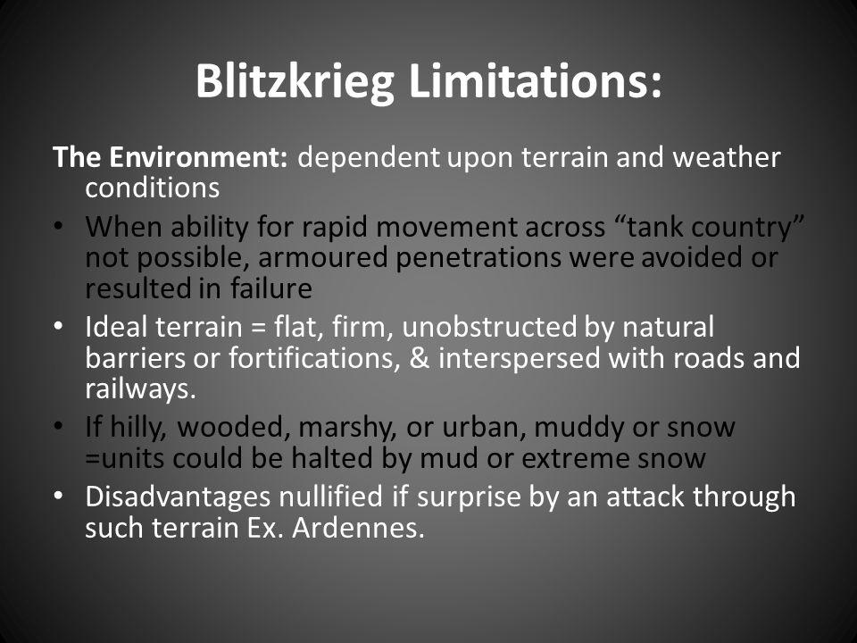 Blitzkrieg Limitations: