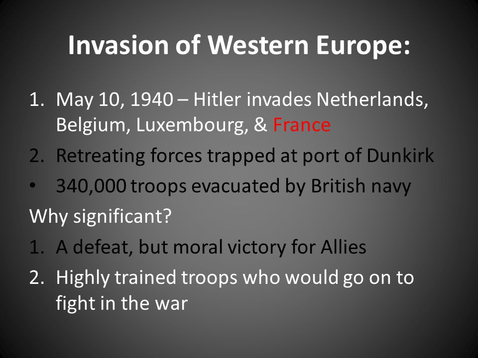 Invasion of Western Europe: