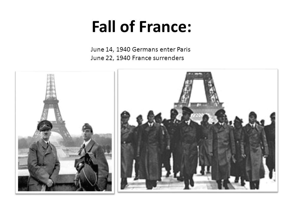 Fall of France: June 14, 1940 Germans enter Paris