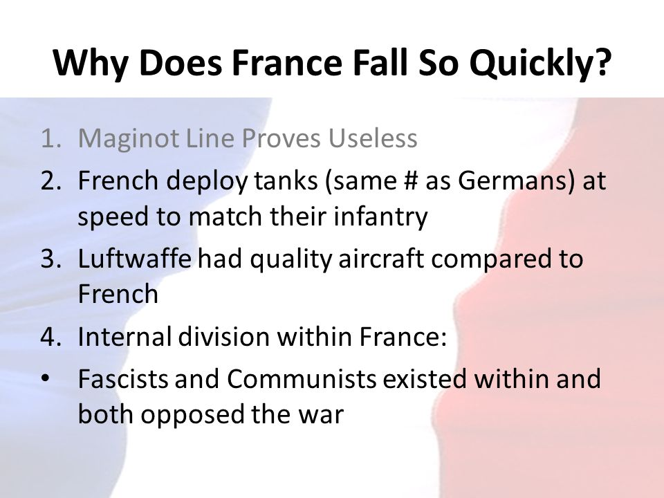 Why Does France Fall So Quickly
