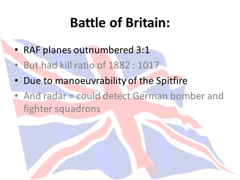 Battle of Britain: RAF planes outnumbered 3:1