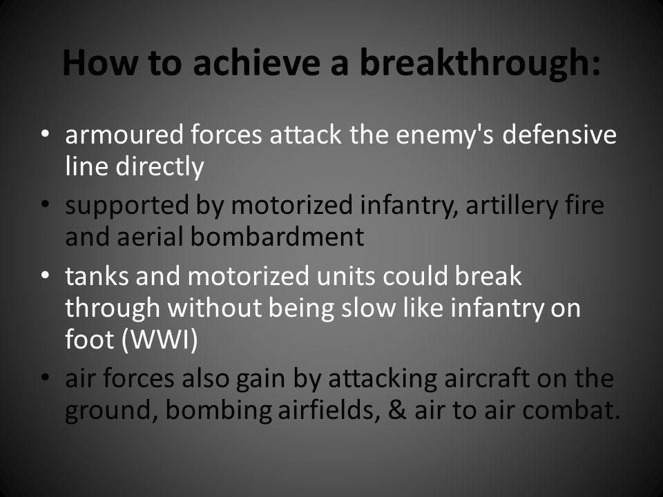 How to achieve a breakthrough: