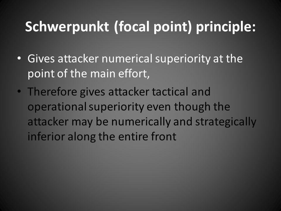 Schwerpunkt (focal point) principle: