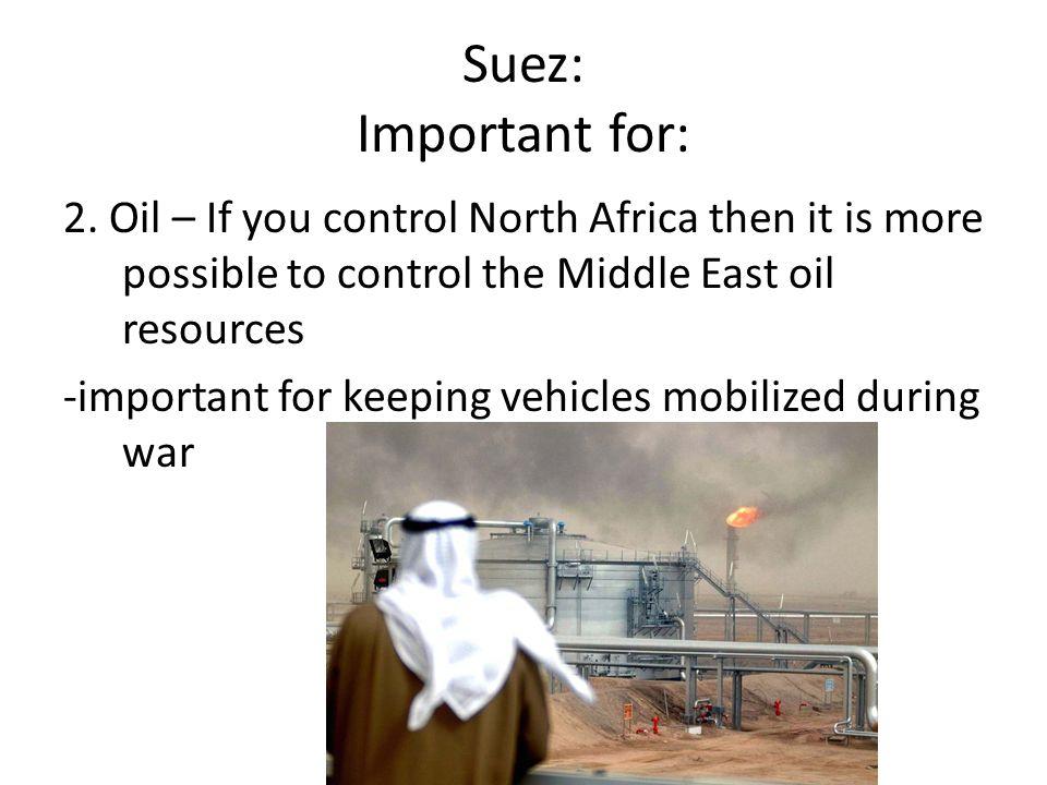 Suez: Important for: