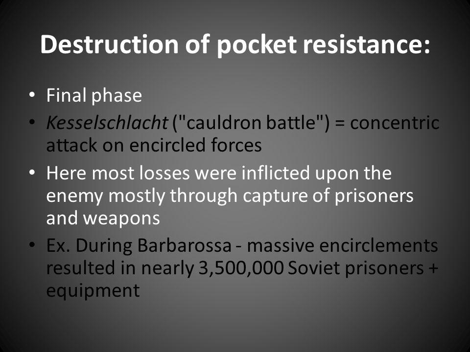 Destruction of pocket resistance: