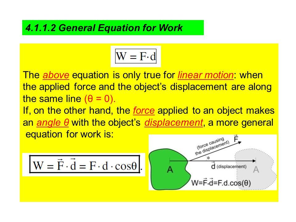 4.1.1.2 General Equation for Work