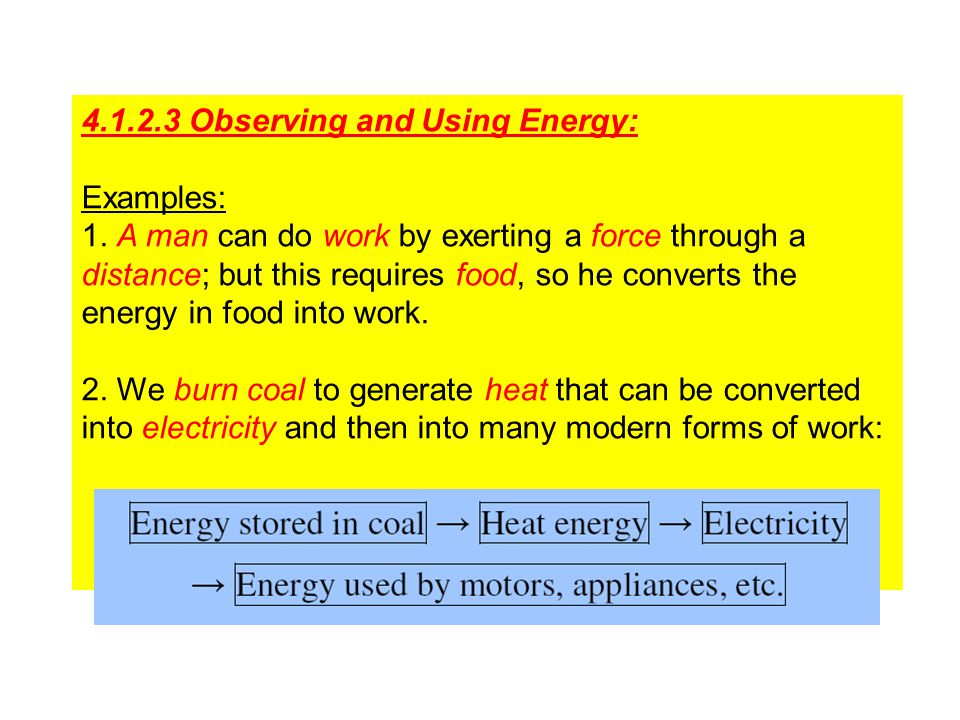 4.1.2.3 Observing and Using Energy: