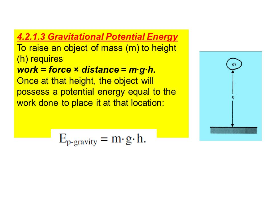 4.2.1.3 Gravitational Potential Energy