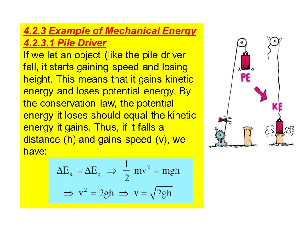 4.2.3 Example of Mechanical Energy
