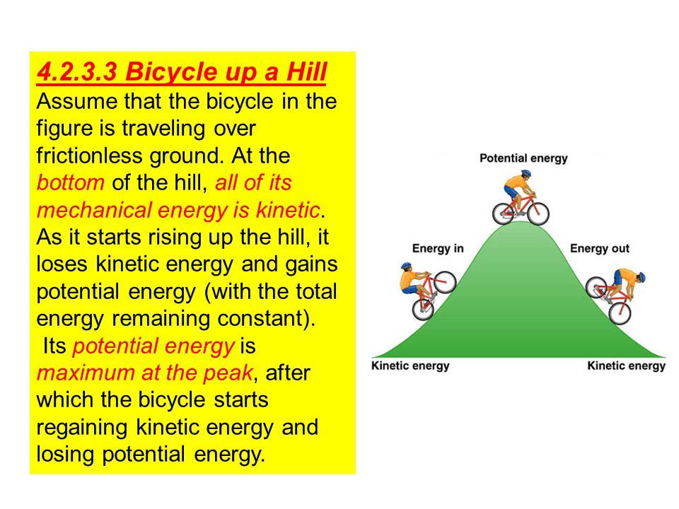 4.2.3.3 Bicycle up a Hill