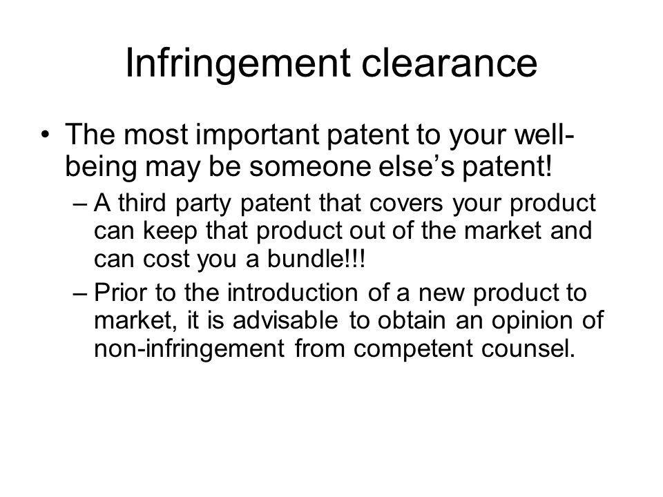 Infringement clearance
