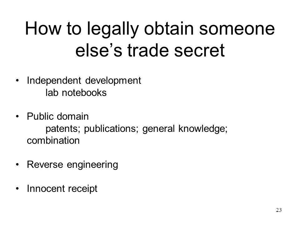 How to legally obtain someone else's trade secret