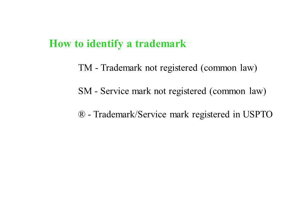 How to identify a trademark