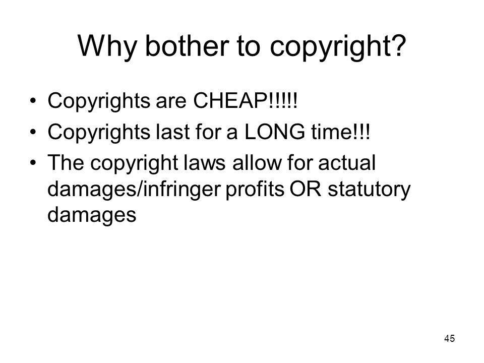 Why bother to copyright