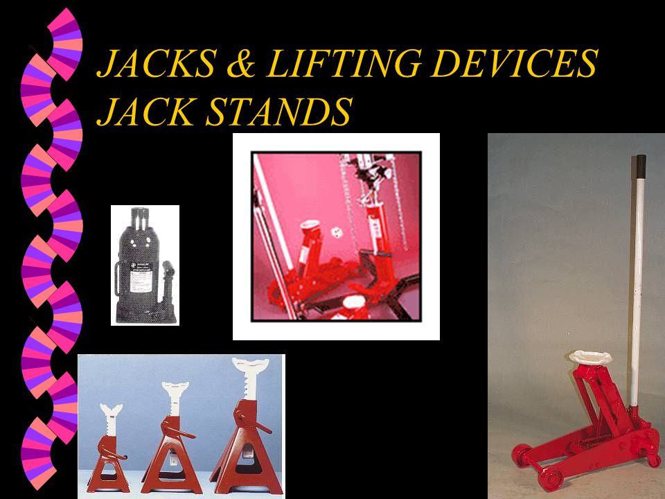 JACKS & LIFTING DEVICES JACK STANDS