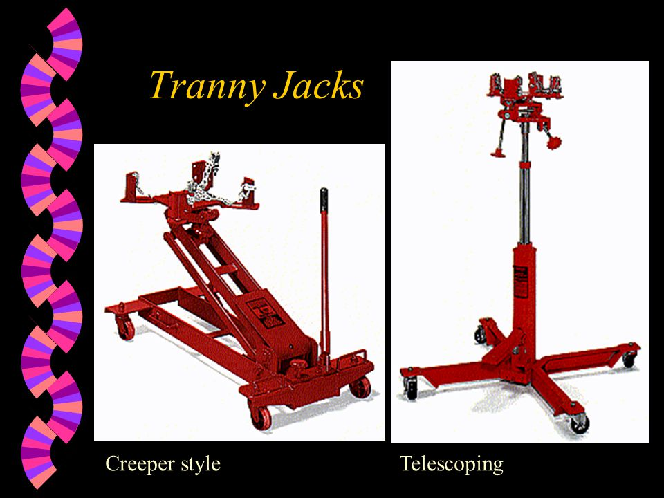 Tranny Jacks Creeper style Telescoping