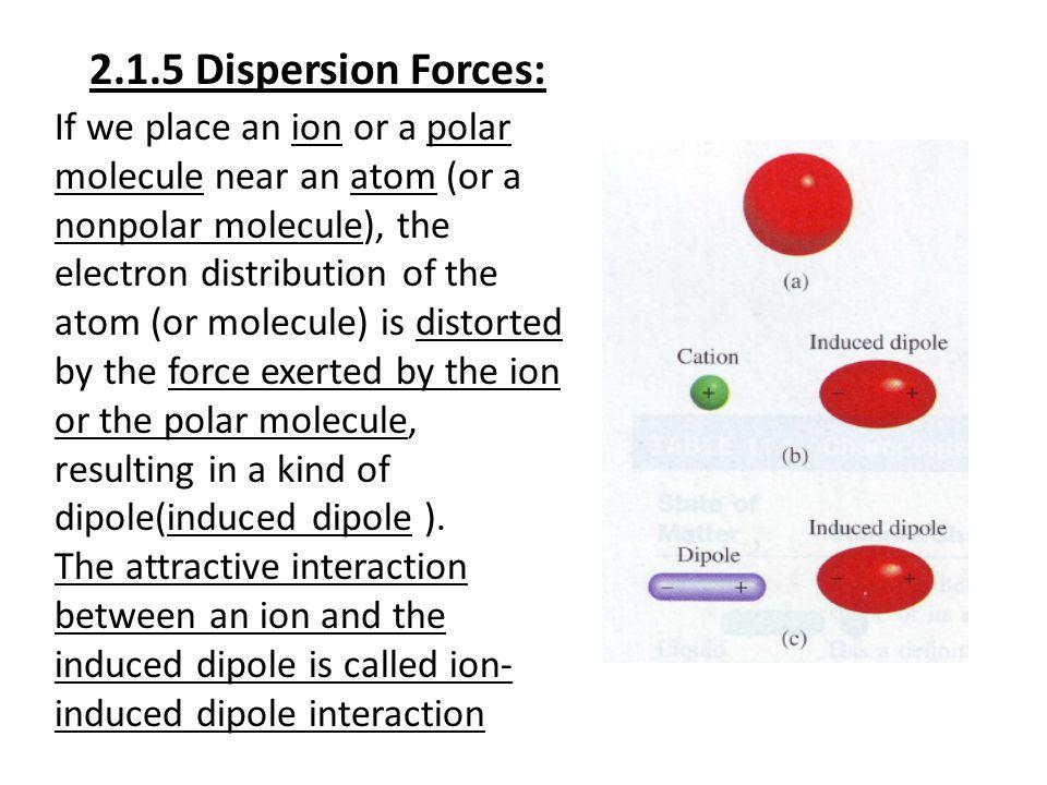 2.1.5 Dispersion Forces:
