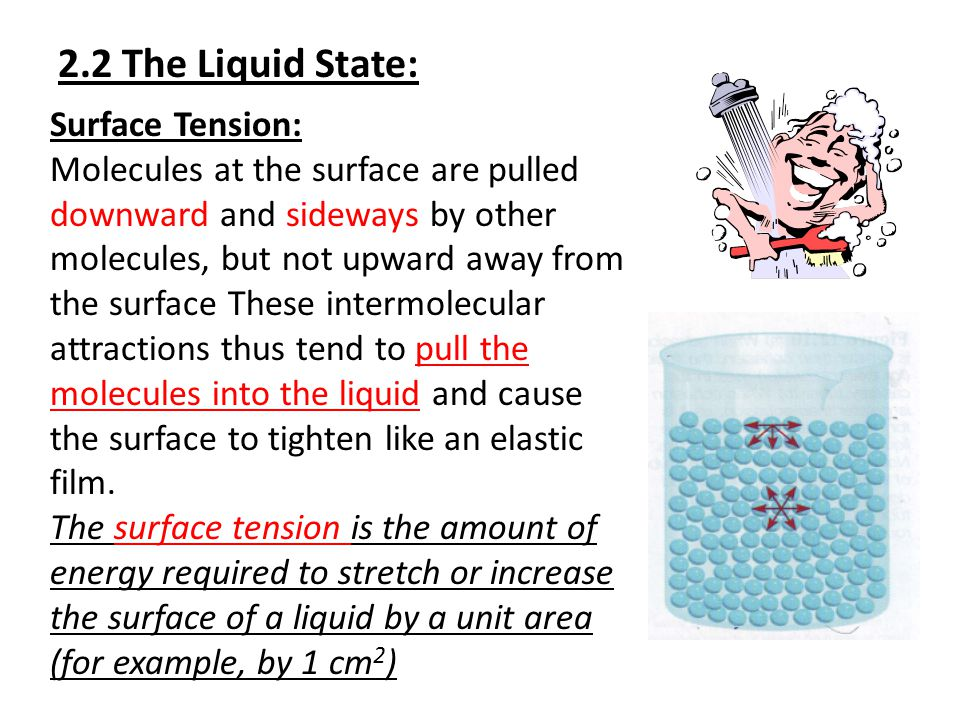 2.2 The Liquid State: Surface Tension: