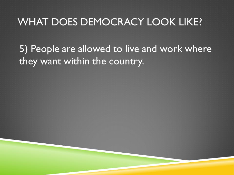 What does democracy look like