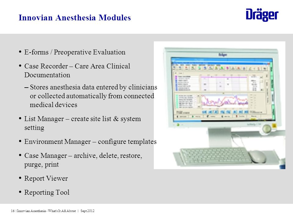 Innovian Anesthesia Modules