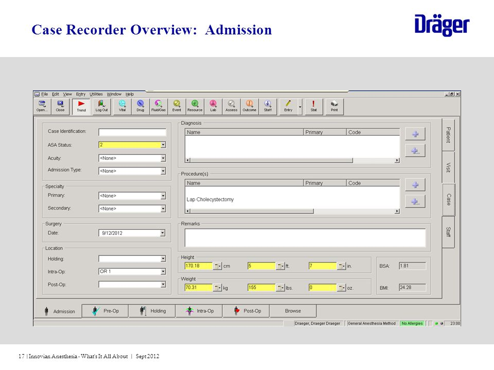 Case Recorder Overview: Admission