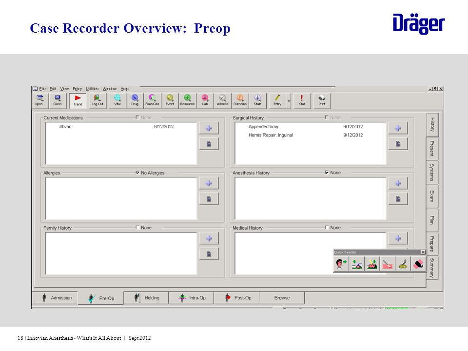 Case Recorder Overview: Preop