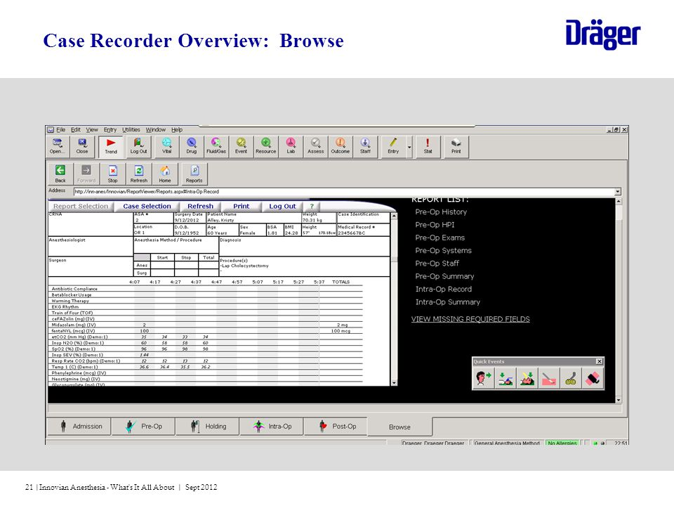 Case Recorder Overview: Browse