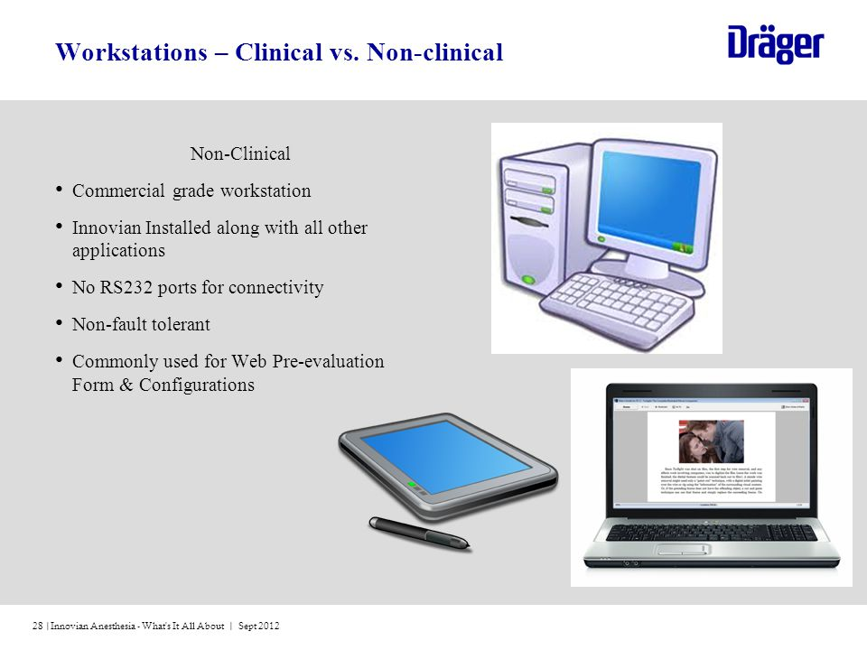 Workstations – Clinical vs. Non-clinical