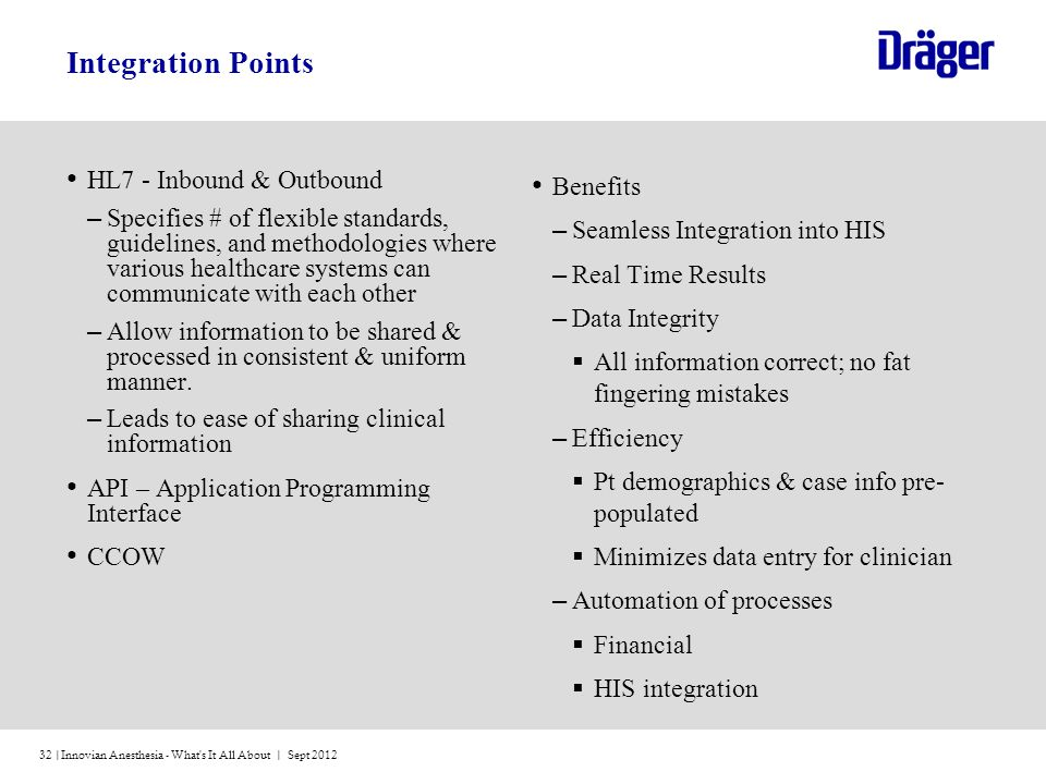 Integration Points HL7 - Inbound & Outbound