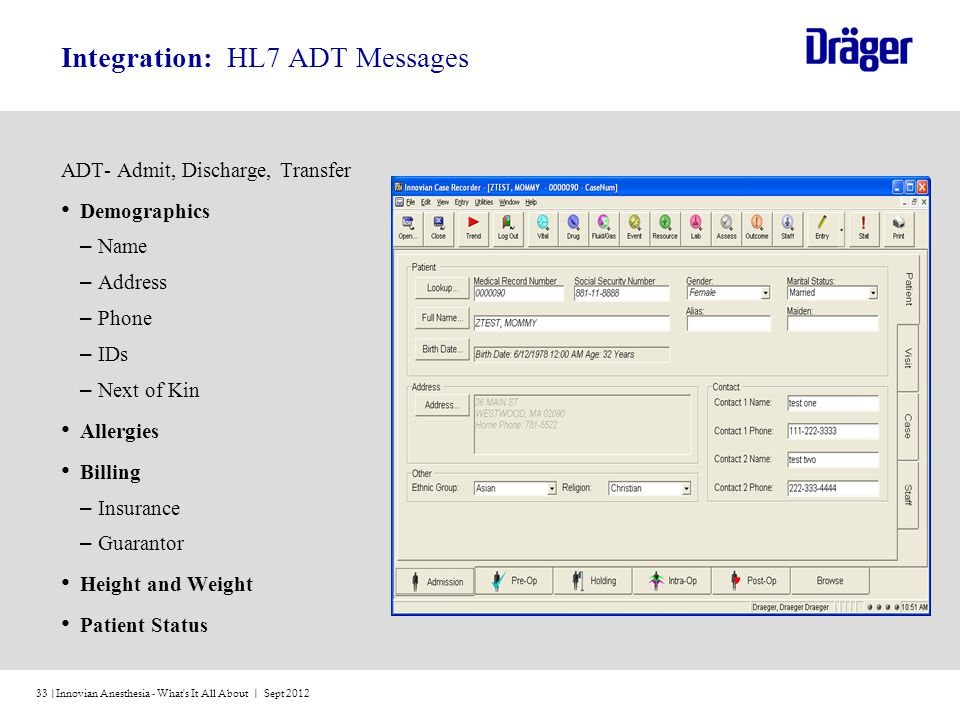 Integration: HL7 ADT Messages