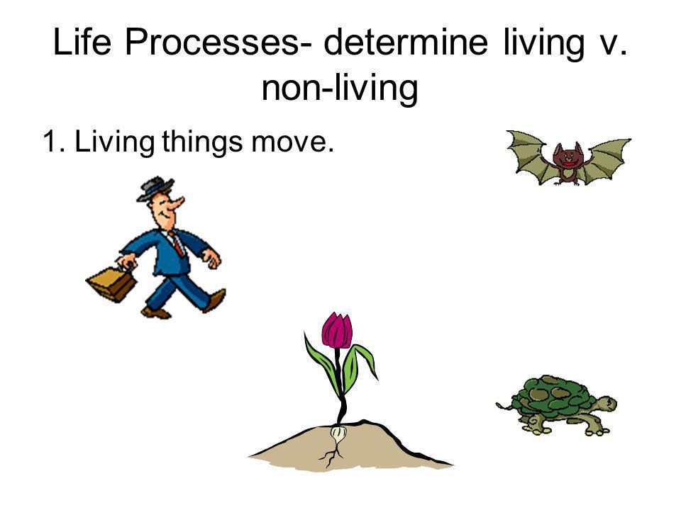 Life Processes- determine living v. non-living