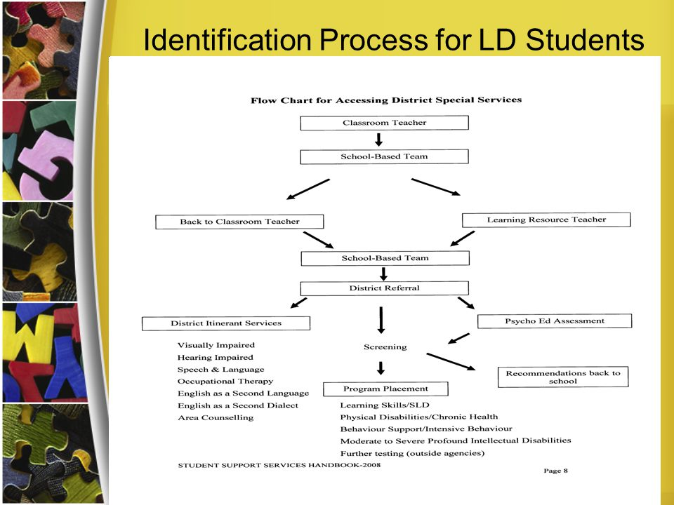 Identification Process for LD Students