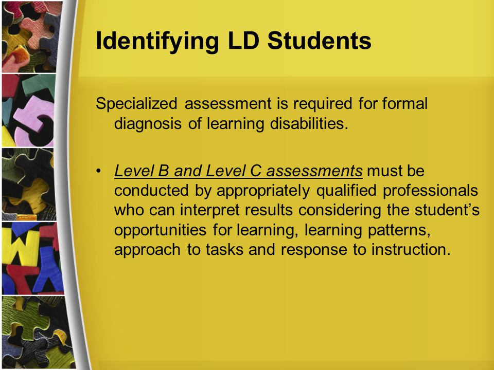 Identifying LD Students