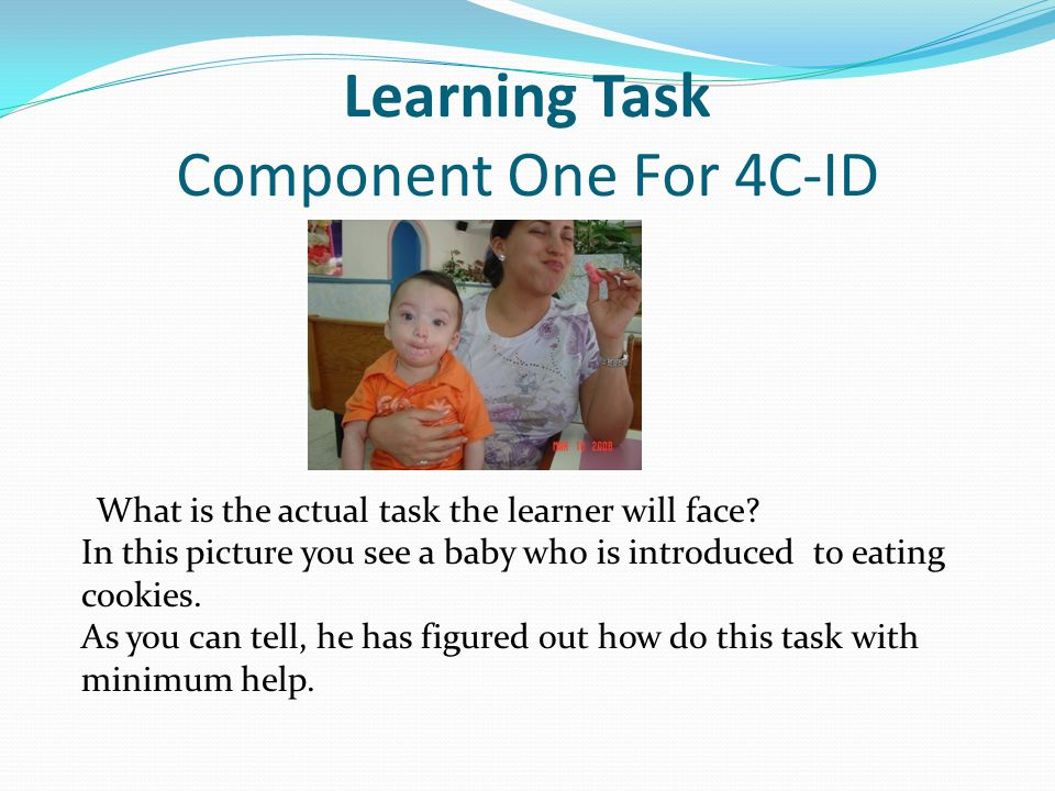 Learning Task Component One For 4C-ID