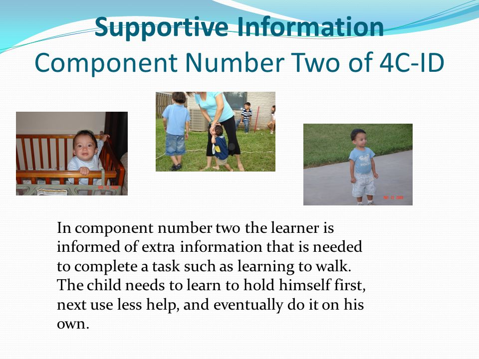 Supportive Information Component Number Two of 4C-ID