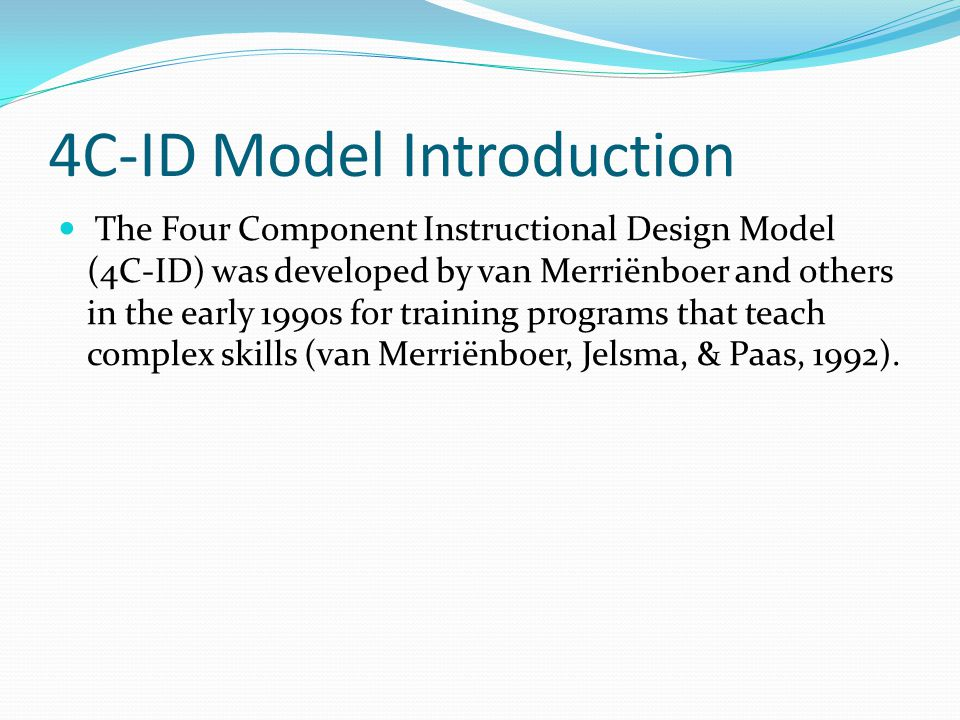 4C-ID Model Introduction
