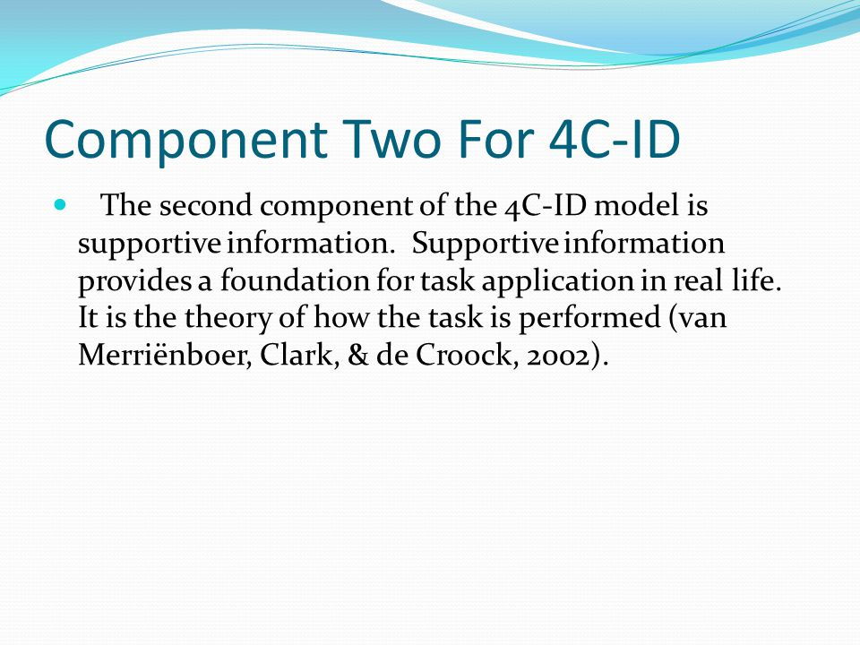 Component Two For 4C-ID