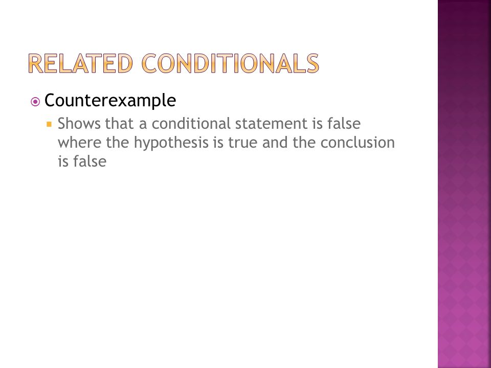 Related Conditionals Counterexample