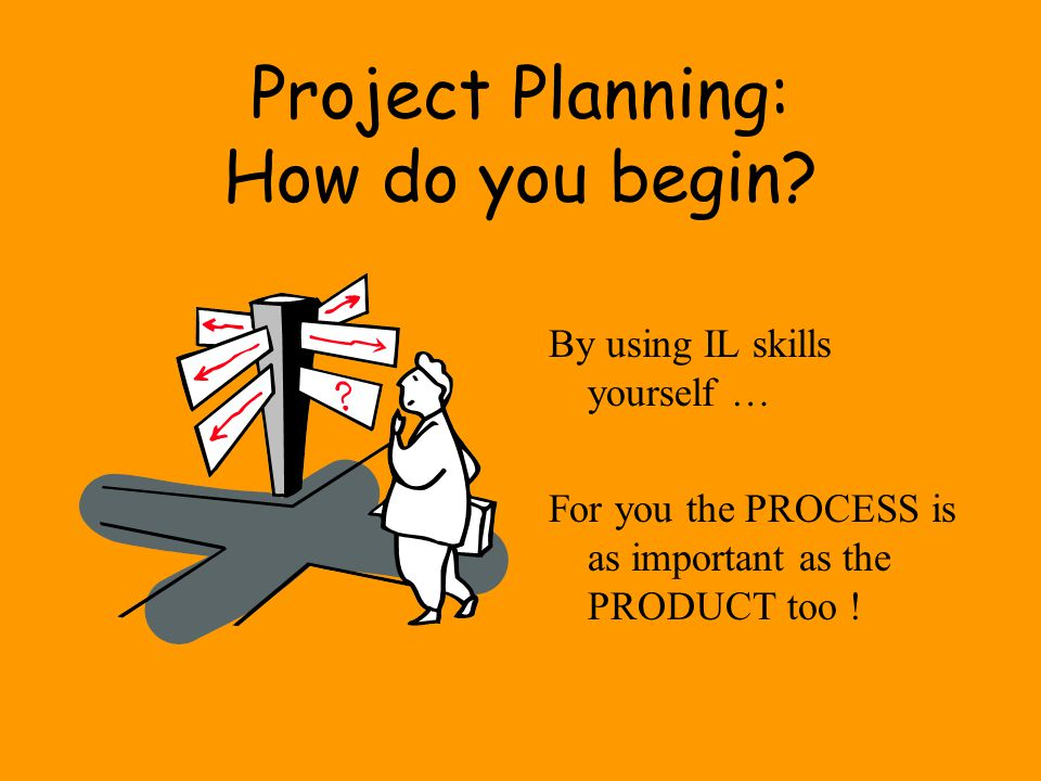 Project Planning: How do you begin