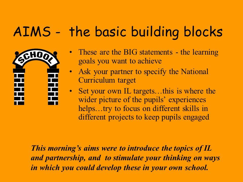 AIMS - the basic building blocks