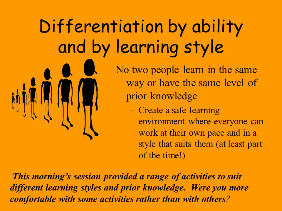 Differentiation by ability and by learning style