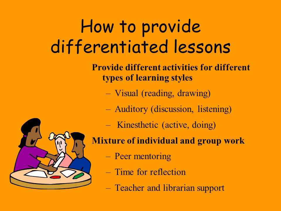 How to provide differentiated lessons