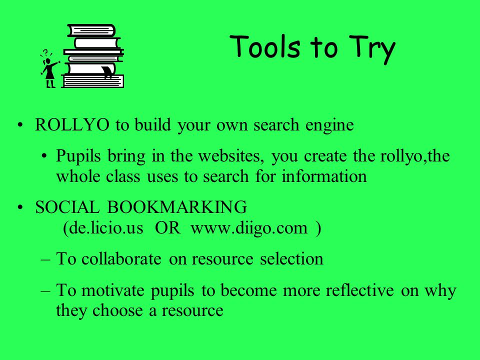 Tools to Try ROLLYO to build your own search engine