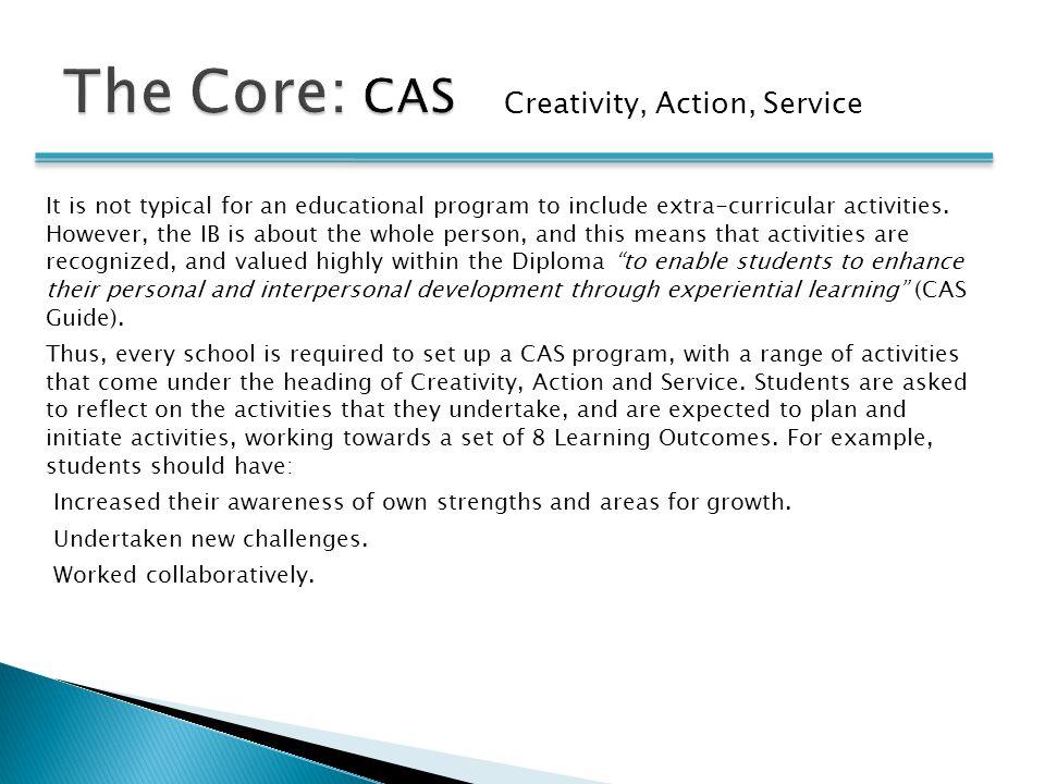 The Core: CAS Creativity, Action, Service