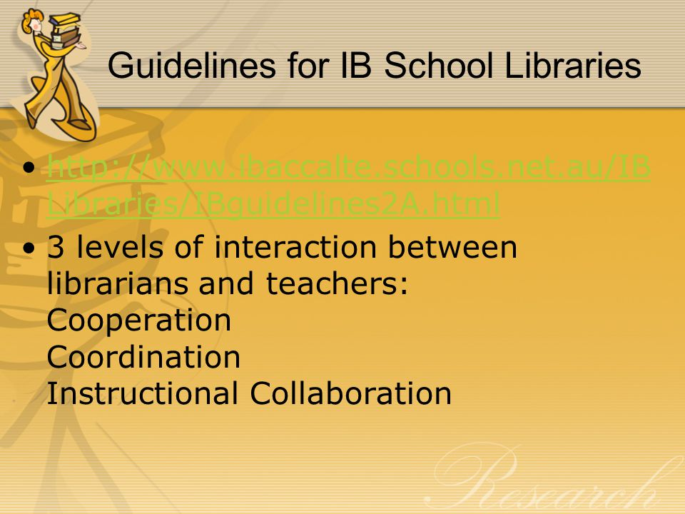 Guidelines for IB School Libraries