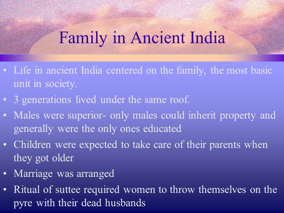 Family in Ancient India